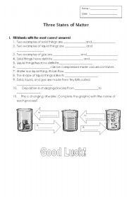 Worksheets 3 States Of Matter Worksheet english teaching worksheets states of matter three matter
