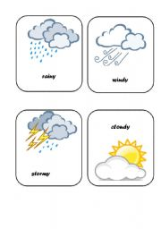 Weather Flashcards - worksheet by tutimex