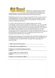 English Worksheets: Walt Disney