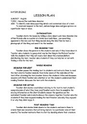 English Worksheet: lesson plan loch ness monster