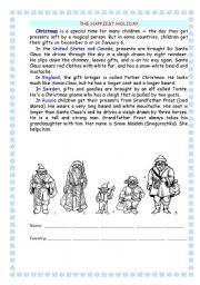 English Worksheets: Christmas_ The Happiest Holiday