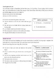 English Worksheet: Role playing: Making complaints and response to complaints