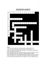 Internet Safety Crossword