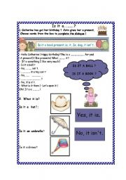 English Worksheets: Is it a...?