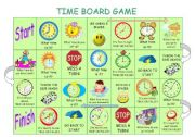 English Worksheets: Time board game