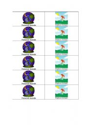 English Worksheets: Nocturanal/Daytime animal sort headers