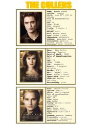 New moon characters - speaking cards 5/5
