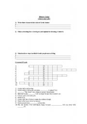 English Worksheet: Ancient Greece Every day Life