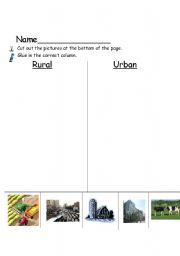 English Worksheets: Urban vs Rural