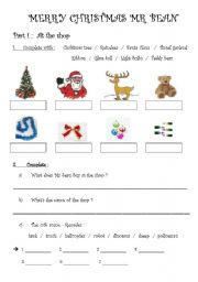 English Worksheet: merry christmas mr bean part 1