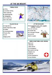 English Worksheet: At the ski resort