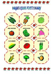 VEGETABLE PICTIONARY