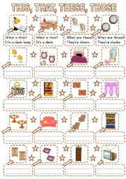 English Worksheets: THIS, THAT, THESE, THOSE - furniture