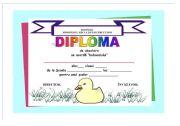 English Worksheet: Diploma