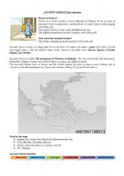 English Worksheet: Ancient Greece Introduction