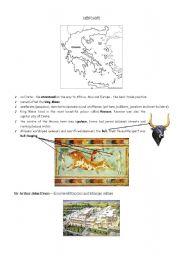 English Worksheets: Minoans