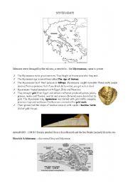 English Worksheets: Mycenaeans