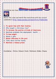 English Worksheets: candidates�resolutions
