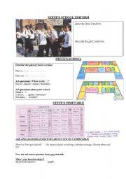 English Worksheet: Steve´s school uniform