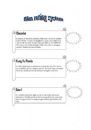 English Worksheets: film rating and describing