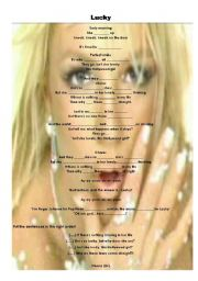 English Worksheet:  Britney Spears song