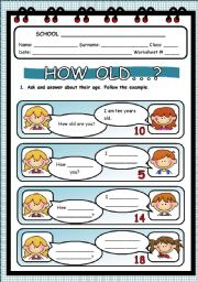 English Worksheets: HOW OLD...?