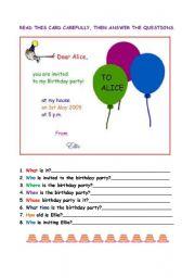 A birthday invitation.