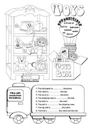 English Worksheets: Toys (1/2)