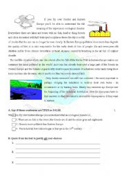 English Worksheet: Pollution in Europe