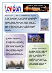 English Worksheets: London