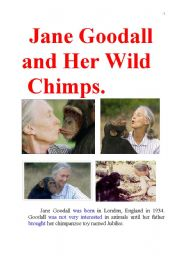 jane goodall and her wild chimpanzees famous biography. Black Bedroom Furniture Sets. Home Design Ideas