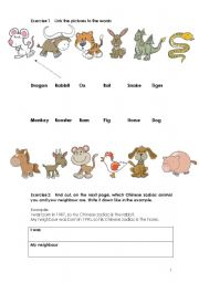 Chinese Zodiac - Animals and Adjectives