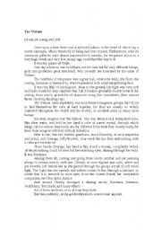 English Worksheets: The Virtues - early writing of the Mother