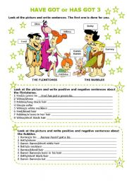 English Worksheet: HAVE GOT or HAS GOT 3