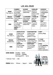 English Worksheets: Law and order