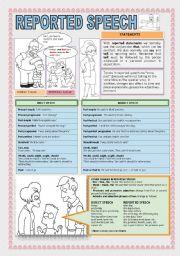 English Worksheet: REPORTED SPEECH: STATEMENTS
