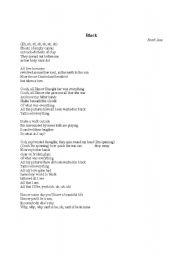 English Worksheets: Black - pearl jam