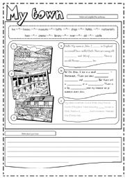 English Worksheet: Places in town (3/3)