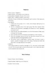 English Worksheet: lesson plans for speaking activities