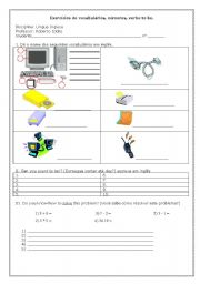 English worksheet: Computer