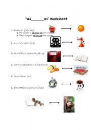 English Worksheet: Comparison -