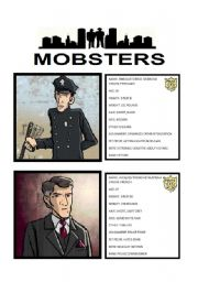 English Worksheet: GAME: MOBSTERS - GUESS WHO (2/3)