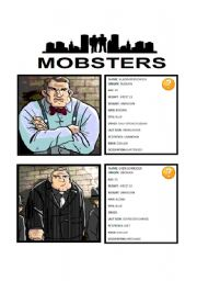 English Worksheet: GAME: MOBSTERS - GUESS WHO (3/3)