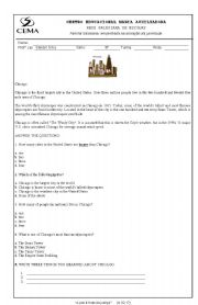 English Worksheet: Reading About Chicago