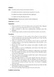 English Worksheets: Multiple Intelligences lesson plan