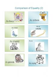 English Worksheets: Comparison of equality 2