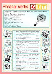 English Worksheets: Phrasal verbs (2/10): GET