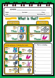 WHAT IS THAT? - DEMONSTRATIVES