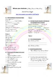 English Worksheets: When you believe by Mariah Carey and Whitney Houston