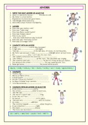 ADVERBS (TWO PAGES)